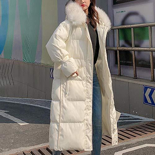 Poches Femmes Boutonné Longues À Unies Manteaux Manteau Vestes Capuchon Blanc Pour 0w7wzq