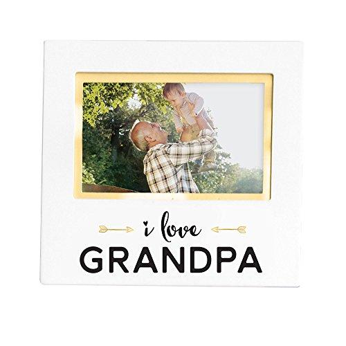 Pearhead I Love Grandpa' Keepsake Frame, Great Gift for Grandpa, White -