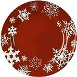 Waechtersbach Winter Splendor Salad Plates, Snowflakes Red, Set of 4