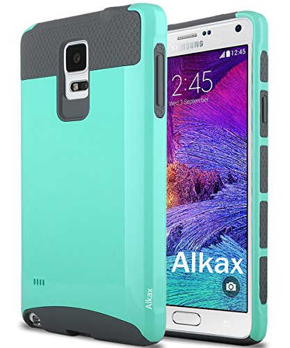 Note 4 Case,Galaxy Note 4 Case, Alkax Rugged Armor Heavy Duty Defender Slim Fit Hybrid Series High impact Shokproof Hard Soft Protective Cover Bumper + Stylus Pen for For Samsung Galaxy Note 4 (Aqua) (Verizon Service Card compare prices)