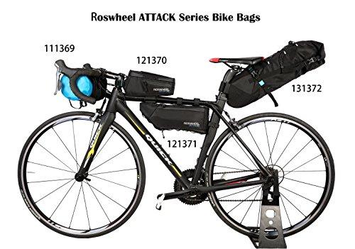Roswheel Attack Series 111369 Waterproof Adjustable Capacity Bike Bicycle Cycling Handlebar Bag Detachable Dry Pack, Black by Roswheel (Image #7)