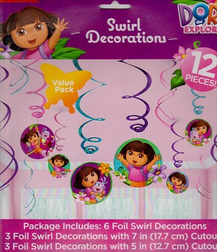American Greetings Dora The Explorer Hanging Party Decorations Party Supplies -