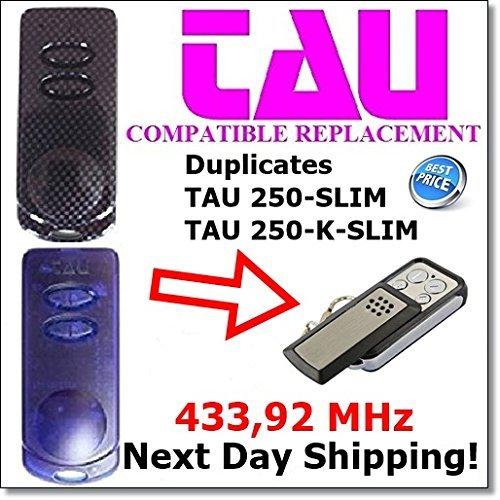 Price comparison product image Tau 250-SLIM, Tau 250-K-SLIM Clone Remote with Fixed Code 433,92Mhz