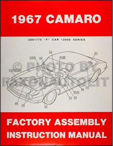 Including Assembly (1967 Camaro Factory Assembly Manual Reprint including RS SS)