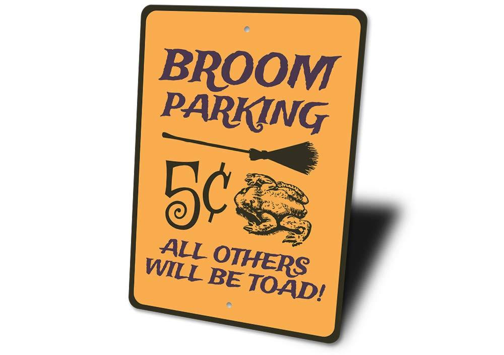 Escoba de bruja escoba señal de prohibido aparcar, cartel ...