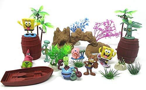 - Spongebob Squarepants 18 Piece Play Set Featuring RANDOM Spongebob Figures and Accessories - May Include Spongebob, Patrick,Squidward, Sandy Cheeks, Patrick Star, Mr. Krabs