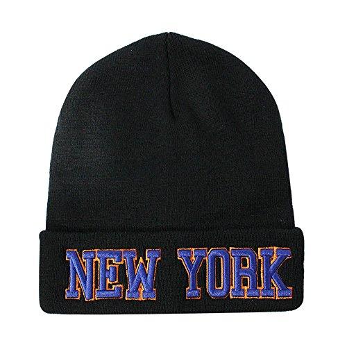 Toque Beanie Hat - Classic Cuff Beanie Hat - Black Cuffed Football Winter Skully Hat Knit Toque Cap York - Orange