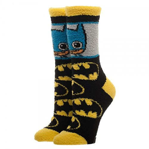 Batman Logo Chibi Animated Adults Fuzzy Socks