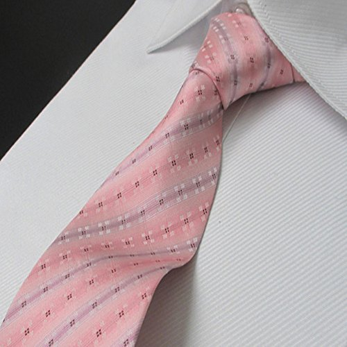 And Men's Classic Decorative Silk Business Yamyannie Tie Striped Formal Pink Wedding Suit Fashion Classic Pattern Wedding Tie Tie Business Tie Sx5SnwpX0