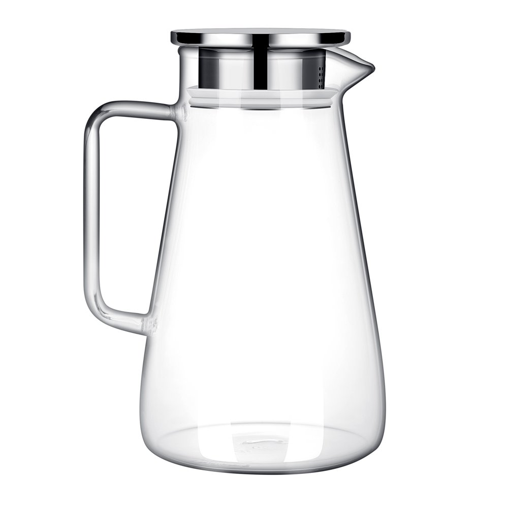 G.a HOMEFAVOR Glass Pitcher 1500ml Jug Water Juice Tea Carafe with Stainless Steel Lid