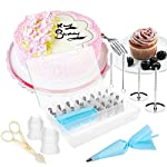 Russian Piping Tips Set,Feleph Cake Decorating Supplies Kit for C 15 🌺MATERIAL: These russian piping tips set are made of 100% food grade FDA approved 304 stainless steel. 🌺PREMIUM CAKE DECORATING SUPPLIES: Let your imagination run wild with this icing nozzles to decorate cakes, cupcakes, cookies, muffins and so on. 🌺EASY TO USE : Just a little pressure on the pastry bag, you can create beautiful flowers.