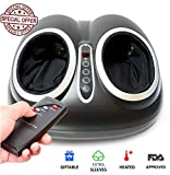 Upgraded Shiatsu Foot Massager Machine - Electric Feet Massage with Heat - Foot Massager Plantar Fasciitis, Neuropathy & Diabetics - Heated Roller Foot Spa - Perfect Pain Relief GlFT Lunix