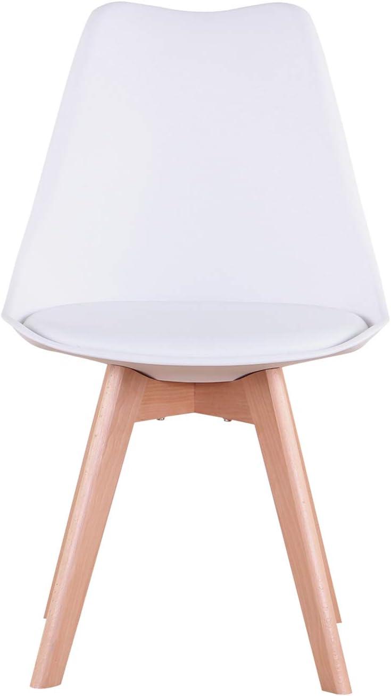 EGOONM 4er Set Esszimmerst/ühle mit Massivholz Buche Bein Retro Design Gepolsterter Stuhl K/üchenstuhl Holz Gelb