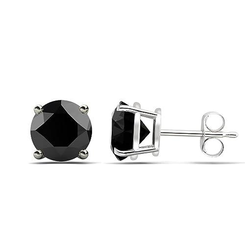 TriJewels Black Diamond Stud Earrings 2.00 ct tw in 14K Gold