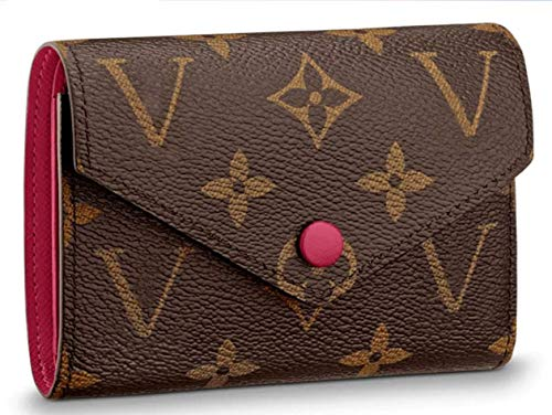Practical Compact wallets 2019 Victorine Zippy coin purse real Leather Pocket Organizer Monogram Fuchsia M41938
