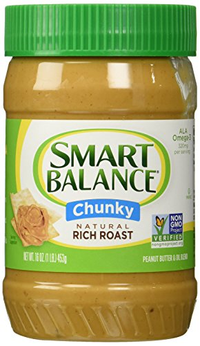 Smart Balance Rich Roast Natural Chunky Peanut Butter (Pack of 2) 16 oz Jars