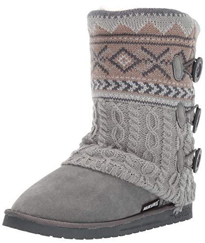 MUK LUKS Women's Cheryl Boots Fashion, Grey Neutral, 10 M US