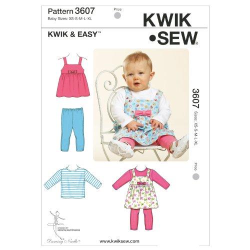 - Kwik Sew K3607 Jumper Sewing Pattern, Top and Leggings