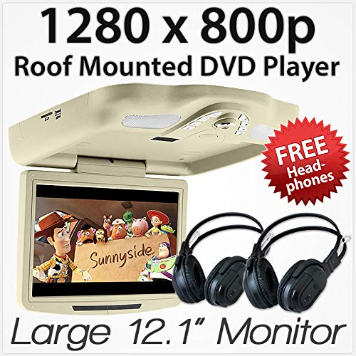 11' Car DVD Player Roof Mounted Flip Down Monitor Screen Display USB Games...