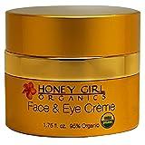 Honey Girl Organics Face and Eye Creme, 1.75 Fluid Ounce