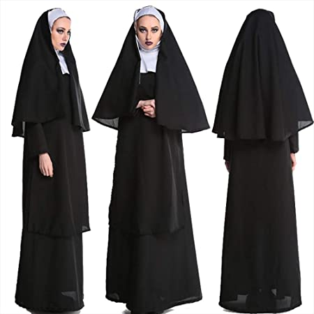 Amazon.com : XSQR Halloween Christmas Cosplay Virgin Mary ...