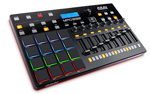 Akai Professional MPD232 | MIDI Drum Pad Controller with Software Download Package (16 pads / 8 knobs / 8 buttons / 8 faders) by Akai Professional