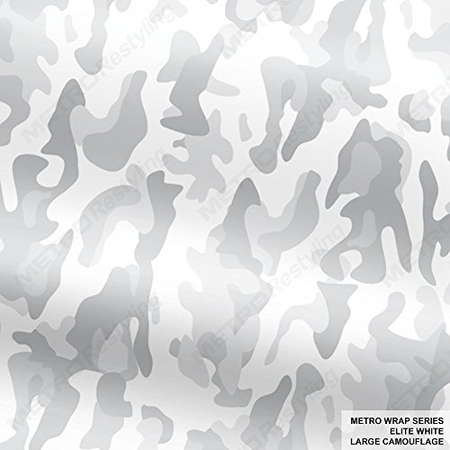 Metro Wrap Series Elite White Large Camouflage 5ft x 12ft (60 sq/ft) Camo Vinyl Car Wrap Film Elite Series Wrap