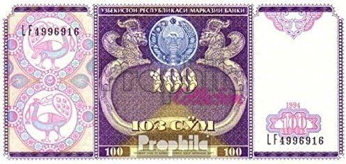 79 bankfrisch 1994 100 Sum Usbekistan Pick-Nr Banknoten f/ür Sammler