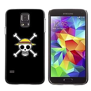 LECELL -- Funda protectora / Cubierta / Piel For Samsung Galaxy S5 SM-G900 -- Design Happy Skull Smiley --