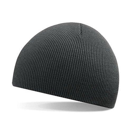 FUNOC Mens Womens Soft Rib Knit Cap Skull Hat Bones Beanie Fit Your Head Perfect (Darkgray)