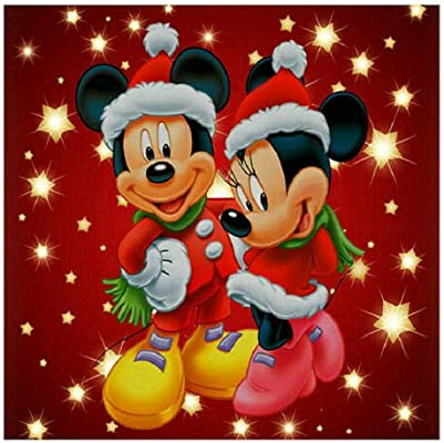 Dream Disney - Cuadro bordado de Mickey Mouse (30 x 40 cm), diseño ...