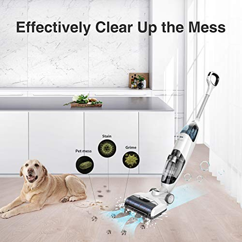 Tineco iFloor Cordless Wet Dry Vacuum Cleaner Lightweight Maneuverable Powerful for Multi-Surface Cleaning Hardwood Floor Clean with Self-Cleaning Brush