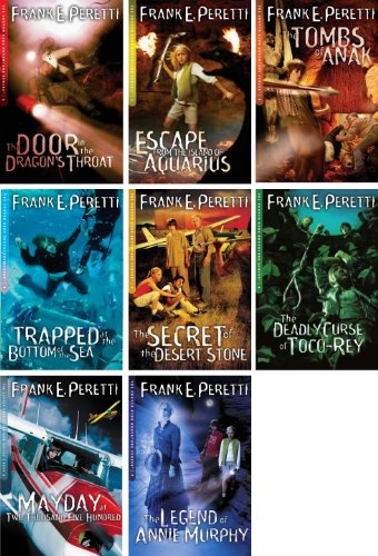 Cooper Kids Adventures Series Set of 8 Volumes Include Door in the Dragon's Throat, Escape From the Island of Aquarius, Tombs of Anak, Trapped At the Bottom of the Sea, Secret of Desert Stone, Deadly Curse of Toco-rey, and more