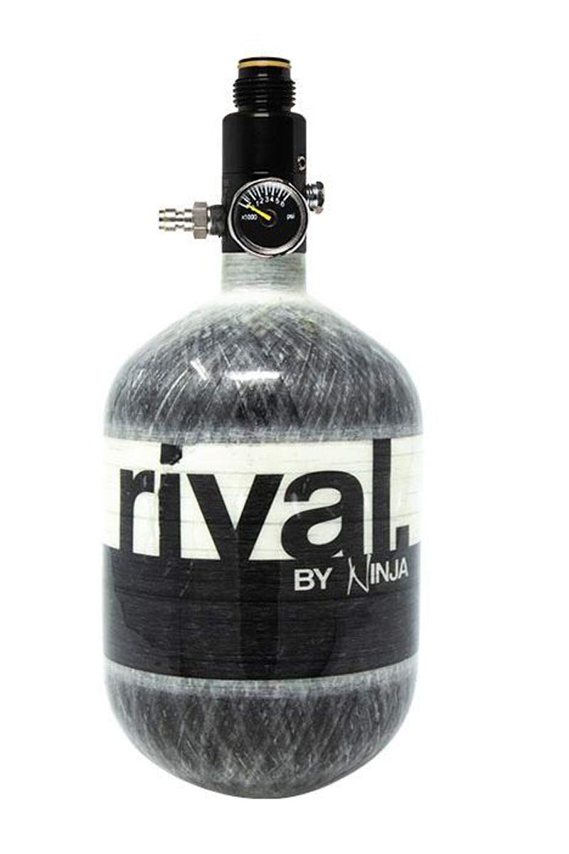 Ninja Rival Paintball Carbon Fiber 50ci 4500psi Compressed HPA Air Tank (Grey) by Ninja Paintball