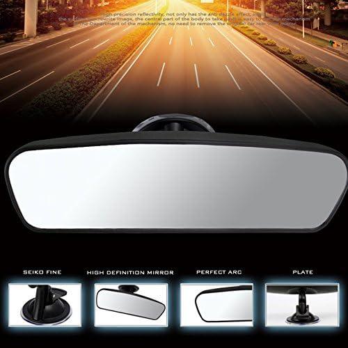 Swiftswan Car Rear Mirror Wide-Angle Interior Rear View Mirror with Sucker(Color:Black)