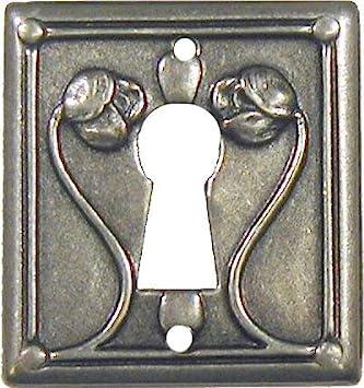 Pewter Escutcheon Keyhole Cover Plates