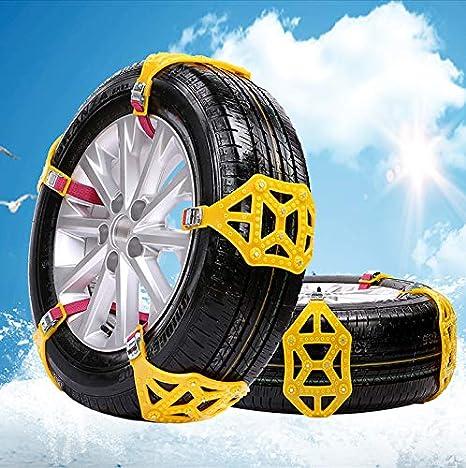 MASO 6 St/ücke Schneeketten Einfach zu montieren Anti-Rutsch Reifen Schneeketten Universal f/ür Pkw-Reifenbreite 165-285mm