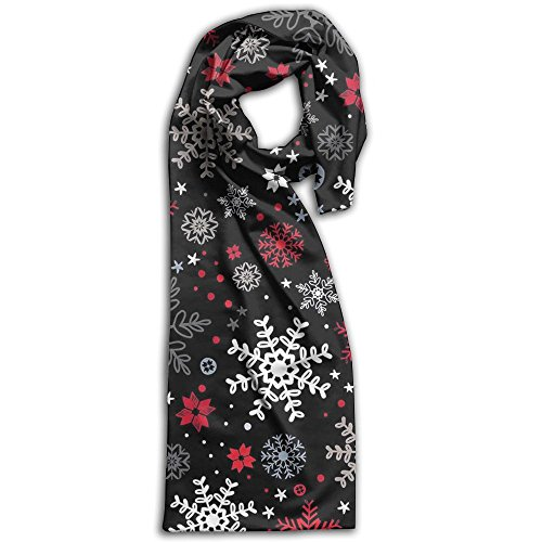 Christmas Black Snowflakes Winter Light.Lightweight Scarf Print Soft Warm Towel Smelless.New Style.Fashion.Fever Stylish Scarves Best Gift (2017 Christmas Radio Stations Music)
