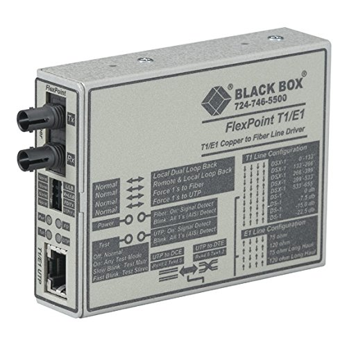 (BLACK BOX MT661A-SM FLEXPOINT T1/E1 FIBER OPTIC LINE DRIVER)