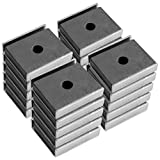 Master Magnetics CA403CNX20 Magnet Fastener, Rectangular with Center Hole Nickel Plated, 1-Inch Length, 0.875-Inch Width, 0.25-Inch Height, 7 Pounds, Silver (Pack of 20)
