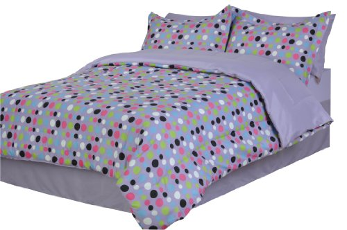 Divatex Dots Microfiber Twin XL Bed In the Bag