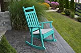 BEST POLY WOOD ROCKING CHAIR FOR LIVING ROOM & PORCH FURNITURE, US Amish Made for All Weather Fun, Relax By a Fireplace or Enjoy on Your Patio, 9 Gorgeous Colors