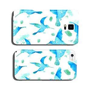 Seamless Watercolor Background with Hummingbirds cell phone cover case Samsung S5