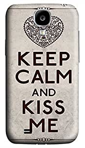Samsung Galaxy S4 I9500 Hard Case - U Keep Calm And Kiss Me Galaxy S4 Cases