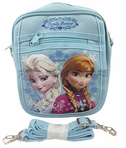Disney Frozen Queen Elsa Camera Bag Case Little Girl Bag Handbag Licensed - Baby Blue