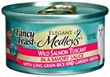 Fancy Feast Elegant Medleys for Cats, Wild Salmon Tuscany with Long Grain Rice And Garden Greens, 3-Ounce Cans (Pack of 24), My Pet Supplies