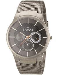 Skagen Men's Carbon Fiber Dial Titanium Watch Grey 809XLTTM