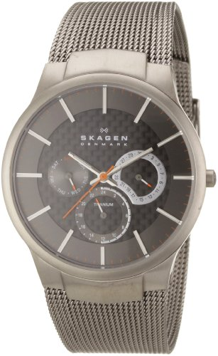 Skagen Men's 809XLTTM Carbon Fiber Dial Titanium Watch