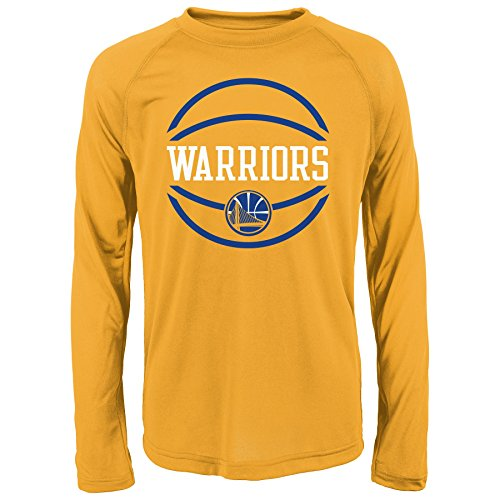 NBA Youth Warriors performance Long sleeve Tee, L(14-16), Gold