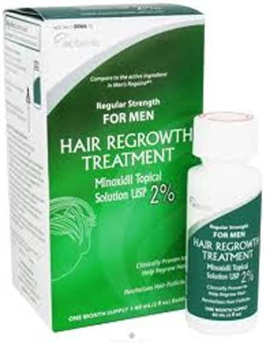 Minoxidil 2% Regular Strength Hair Regrowth Treatment Solution 60 ml [1 month supply] - Buy Packs and SAVE (Pack of 3)